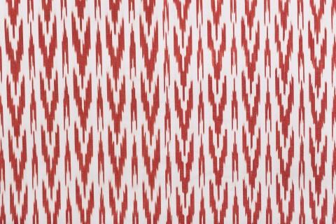 Telas mallorquinas de lengüas rojo y blanco
