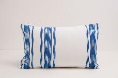 Funda de Cojin Ikat Azul