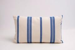 Funda cojin rayas azul telas artesanas mallorca