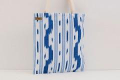 Bolso Tote Bag Telas Mallorquinas Artesanales Azul